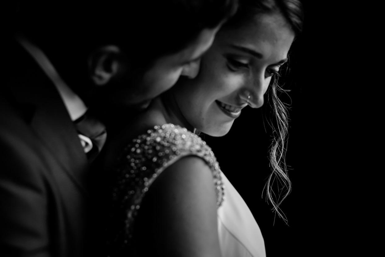 Retrato de novios en boda en Amasa