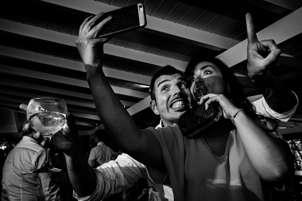 Selfie en boda en Amasa