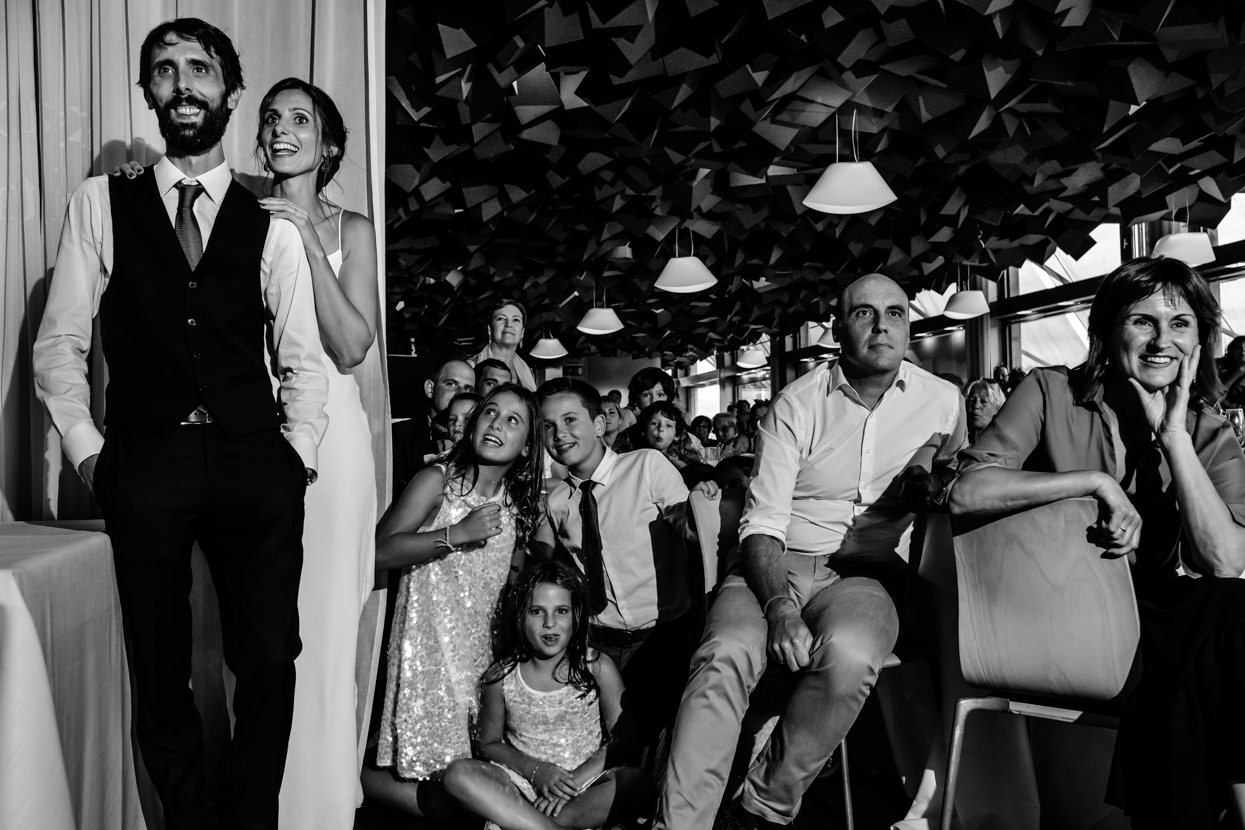 Video sorpresa en boda en Donostia