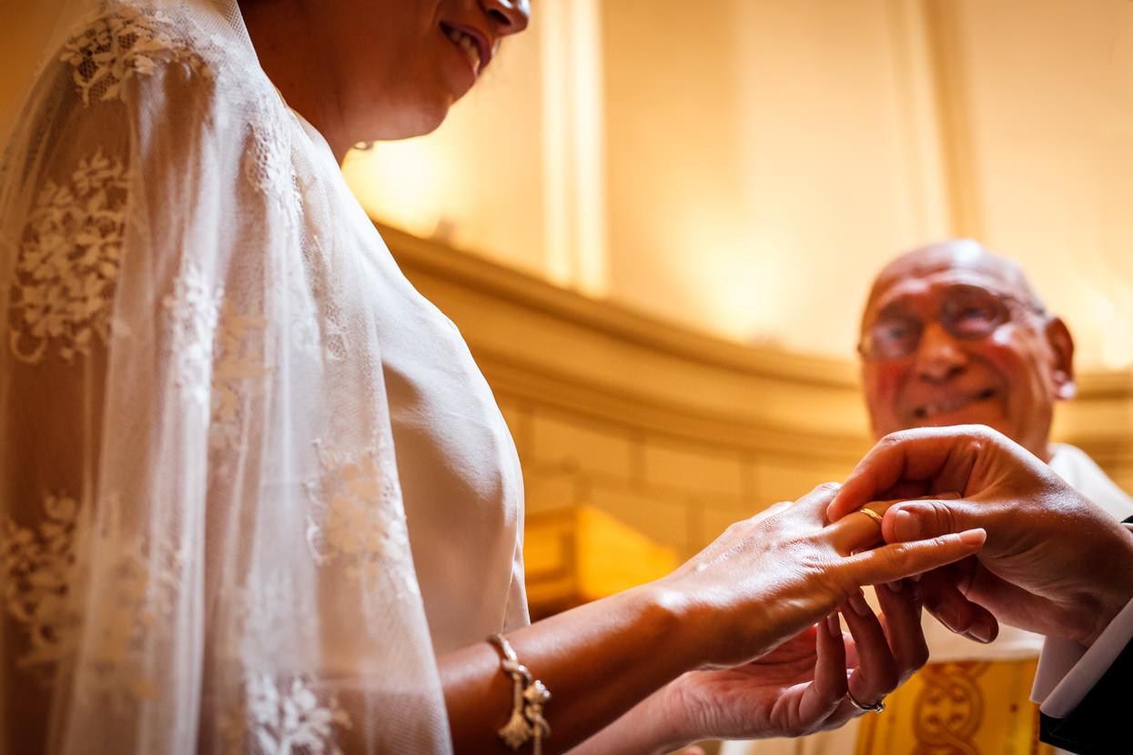 Ceremonia de boda. Anillos