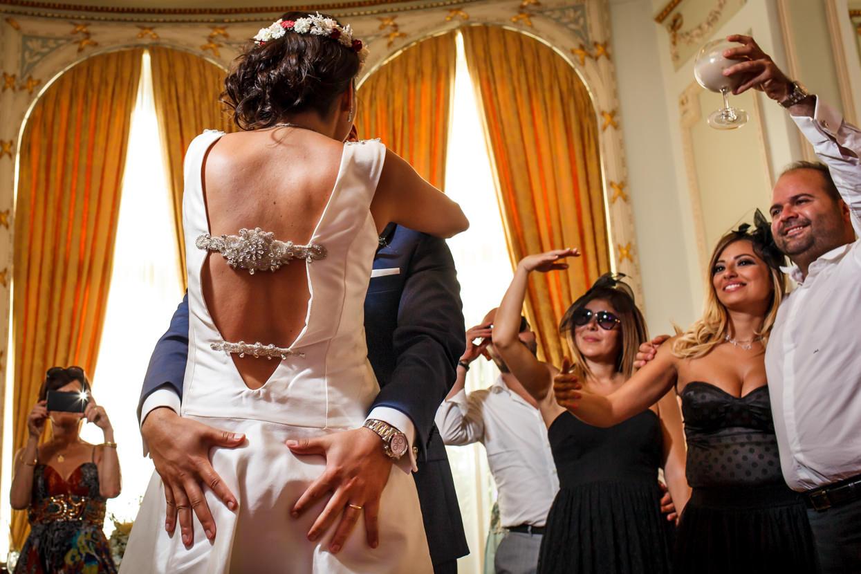 fiesta de boda. Primer baile