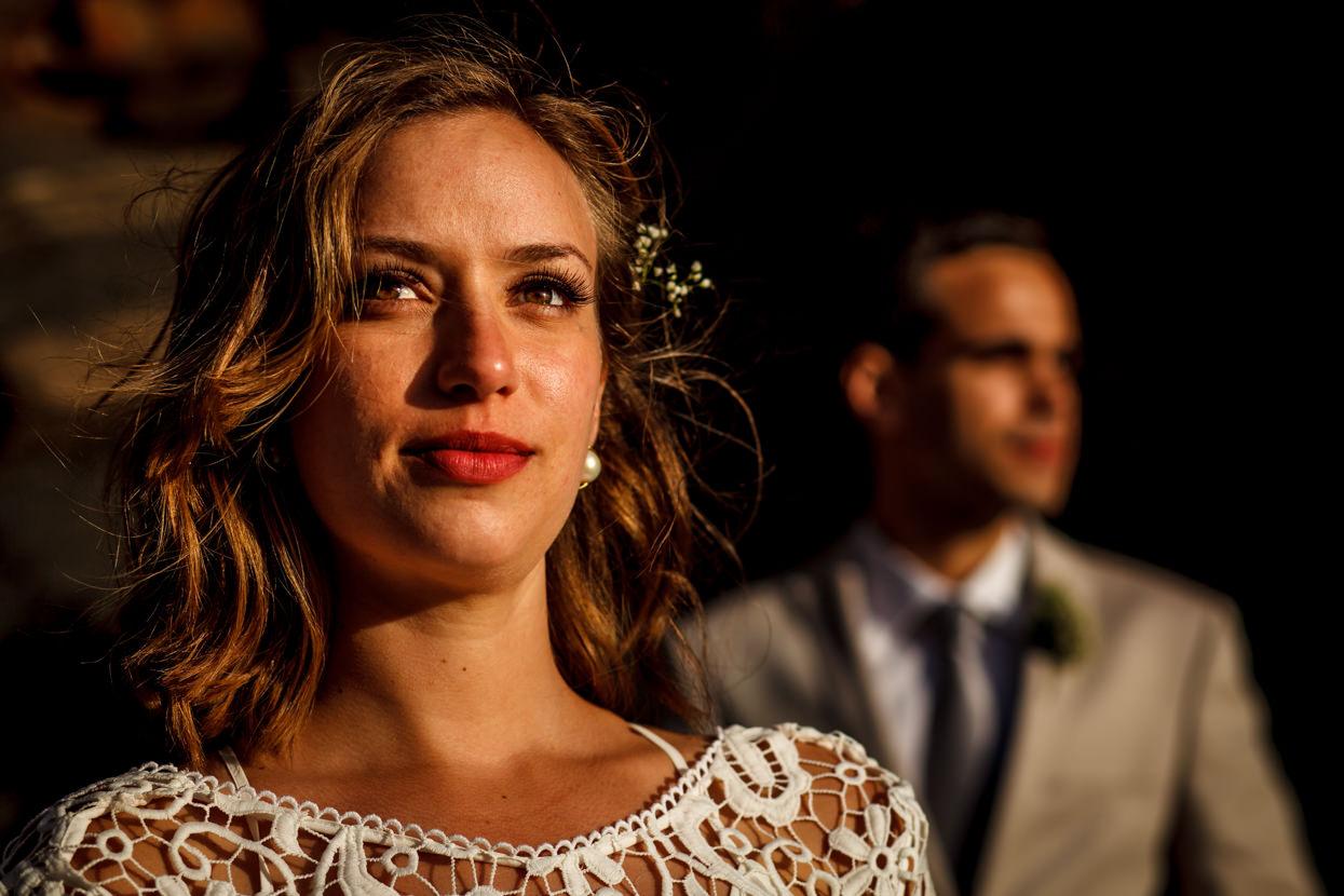 Retrato de boda de novia