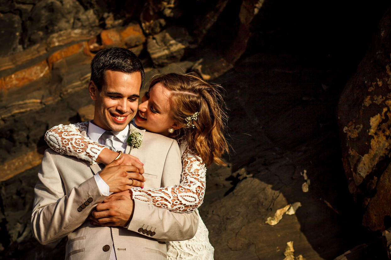 Retrato de pareja en boda en Bizkaia
