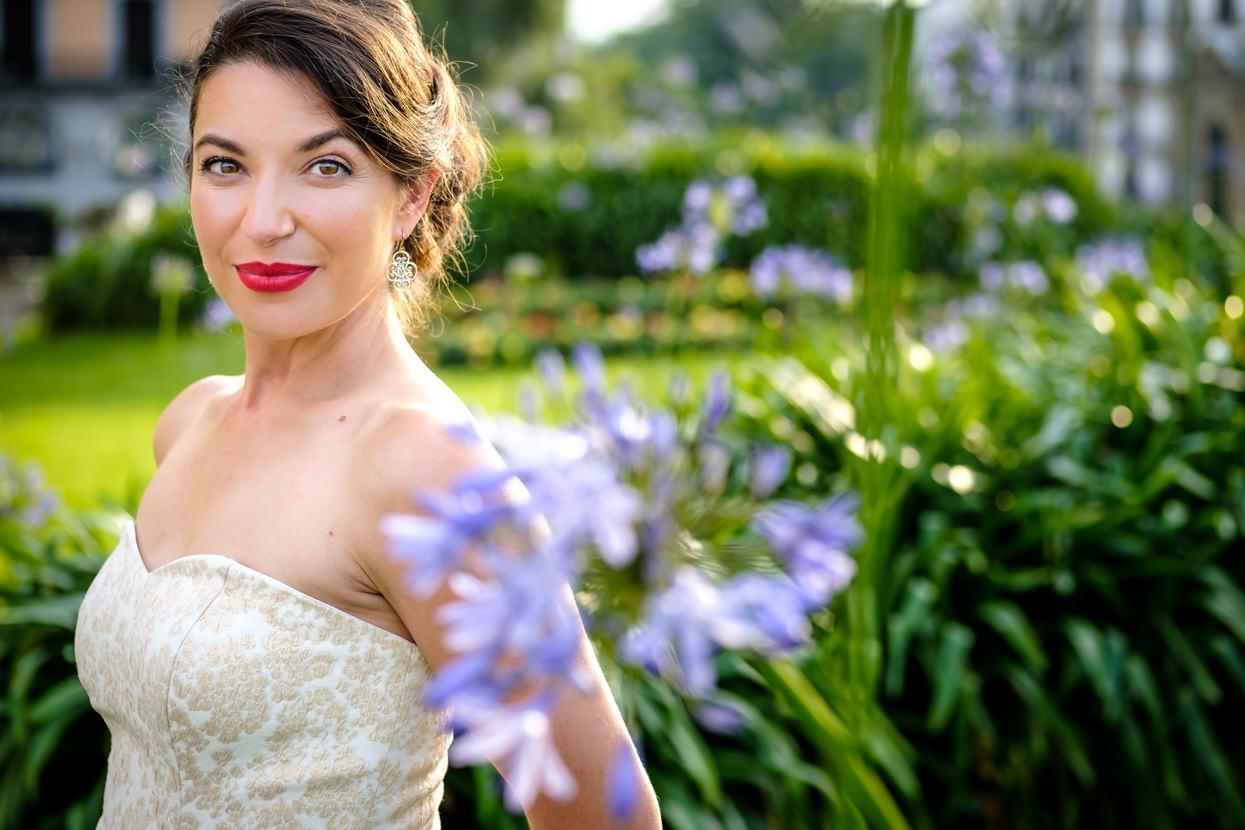 Retrato de novia de boda en hotel María Cristina