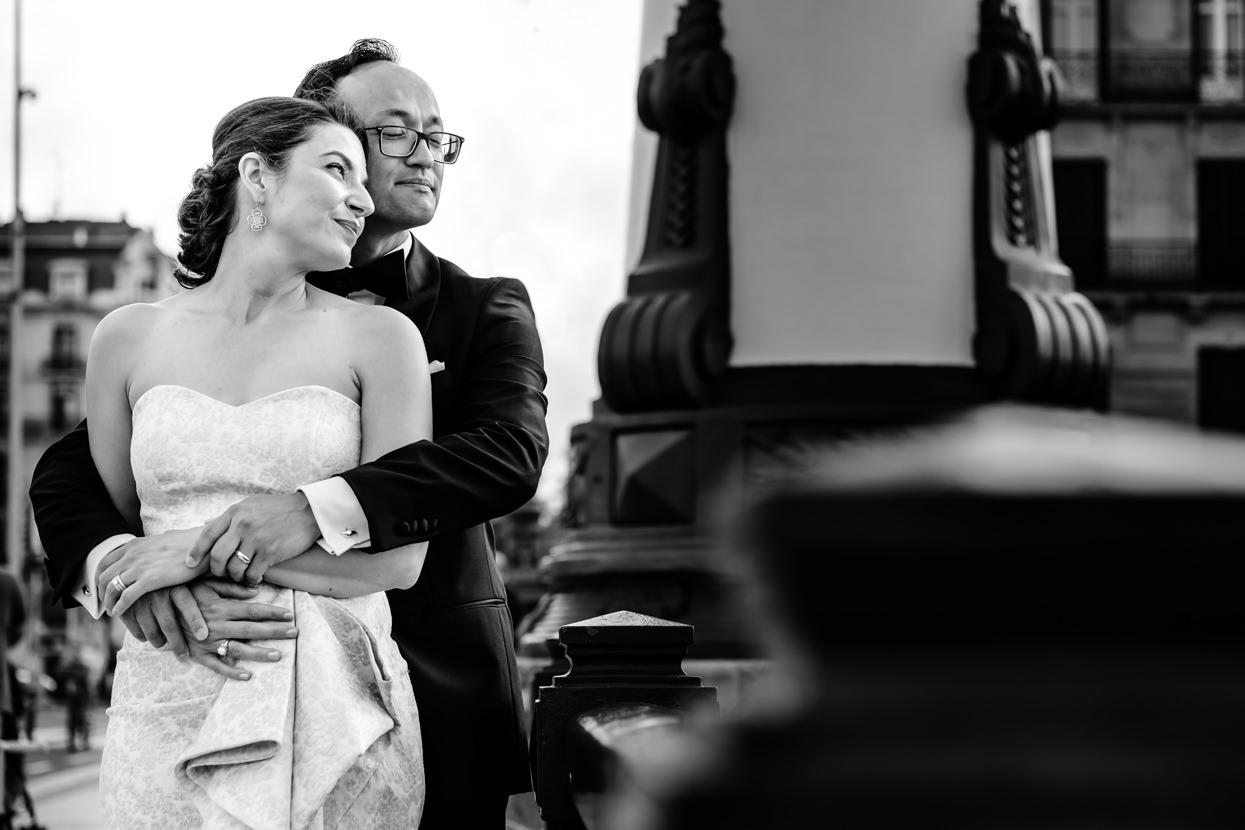 Fotografía de boda de pareja en Kursaal de San Sebastián