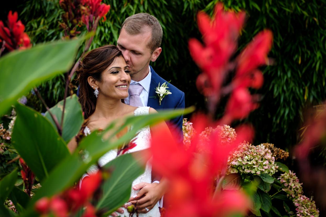 Foto de pareja de boda en Itxasbide