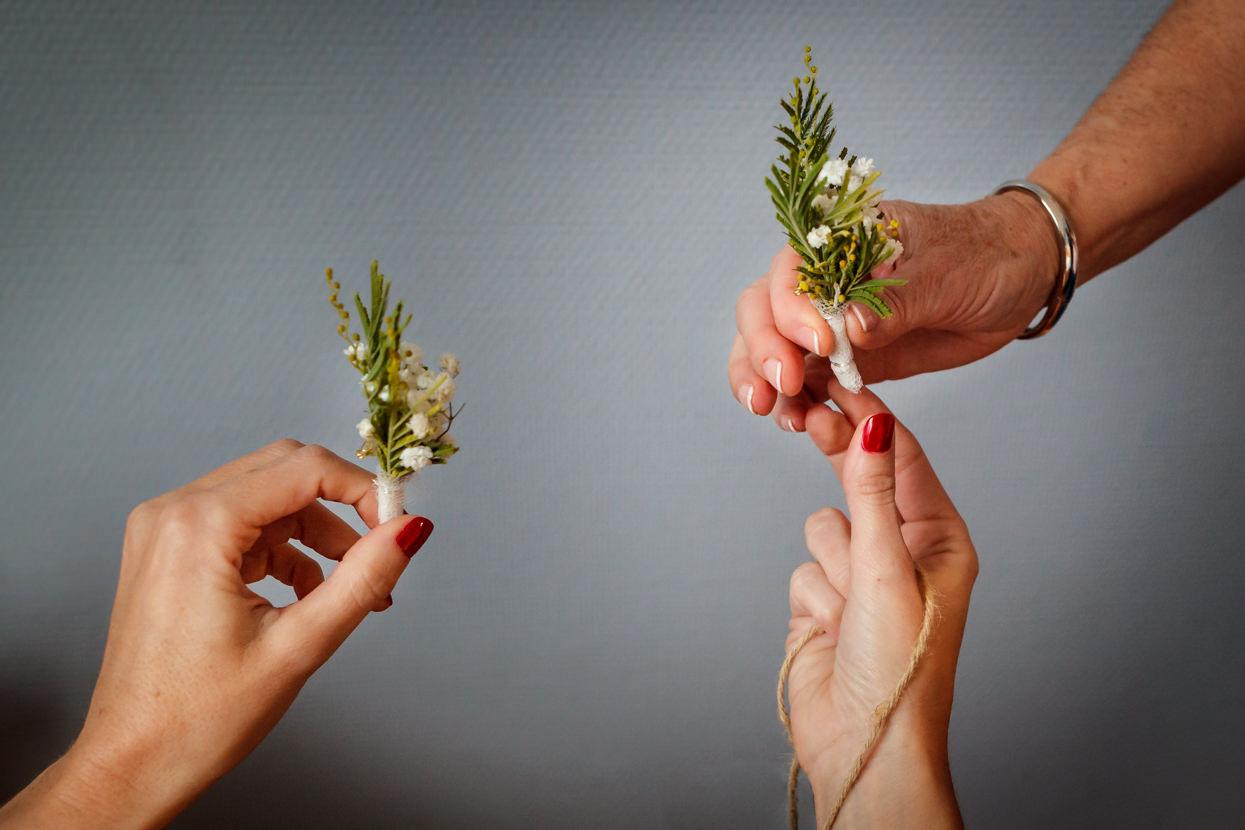 Prendido de flores de boda