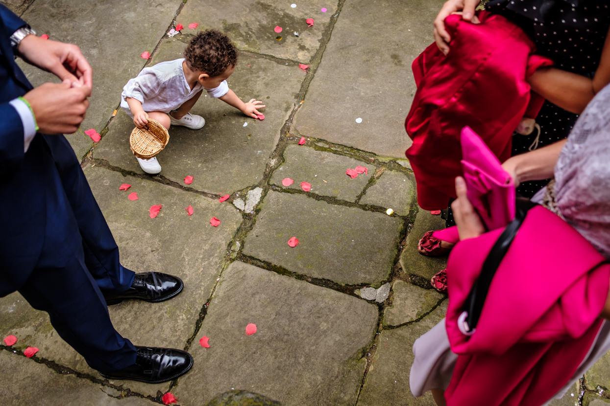 Fotógrafo de boda en Donostia. Detalle de flores