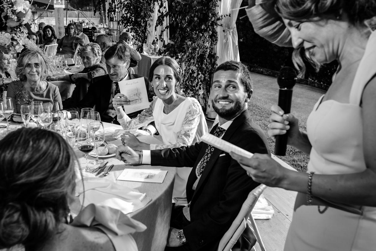 Discurso de invitada de boda en finca Itxasbide