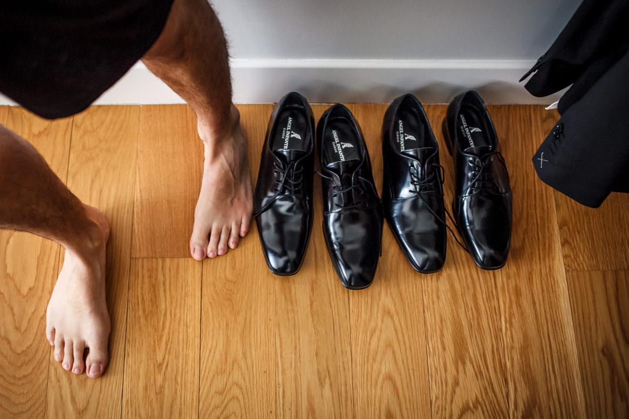 Zapatos de boda de novio