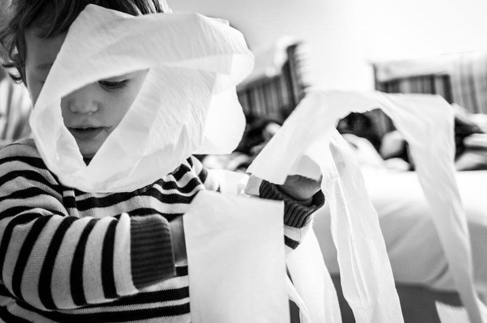 FOTOGRAFÍA INFANTIL Y PAPEL HIGIÉNICO