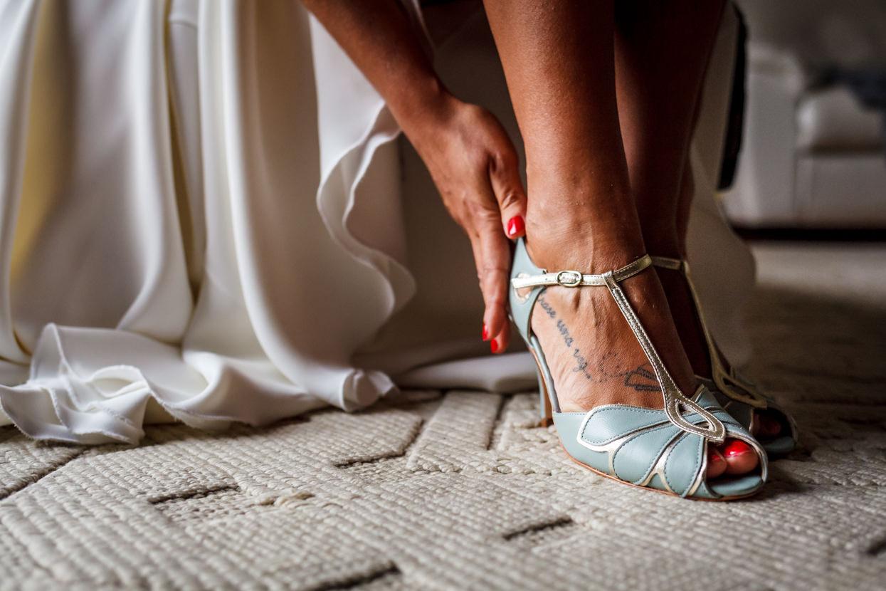 Detalle de boda en Hondarribia. Zapatos