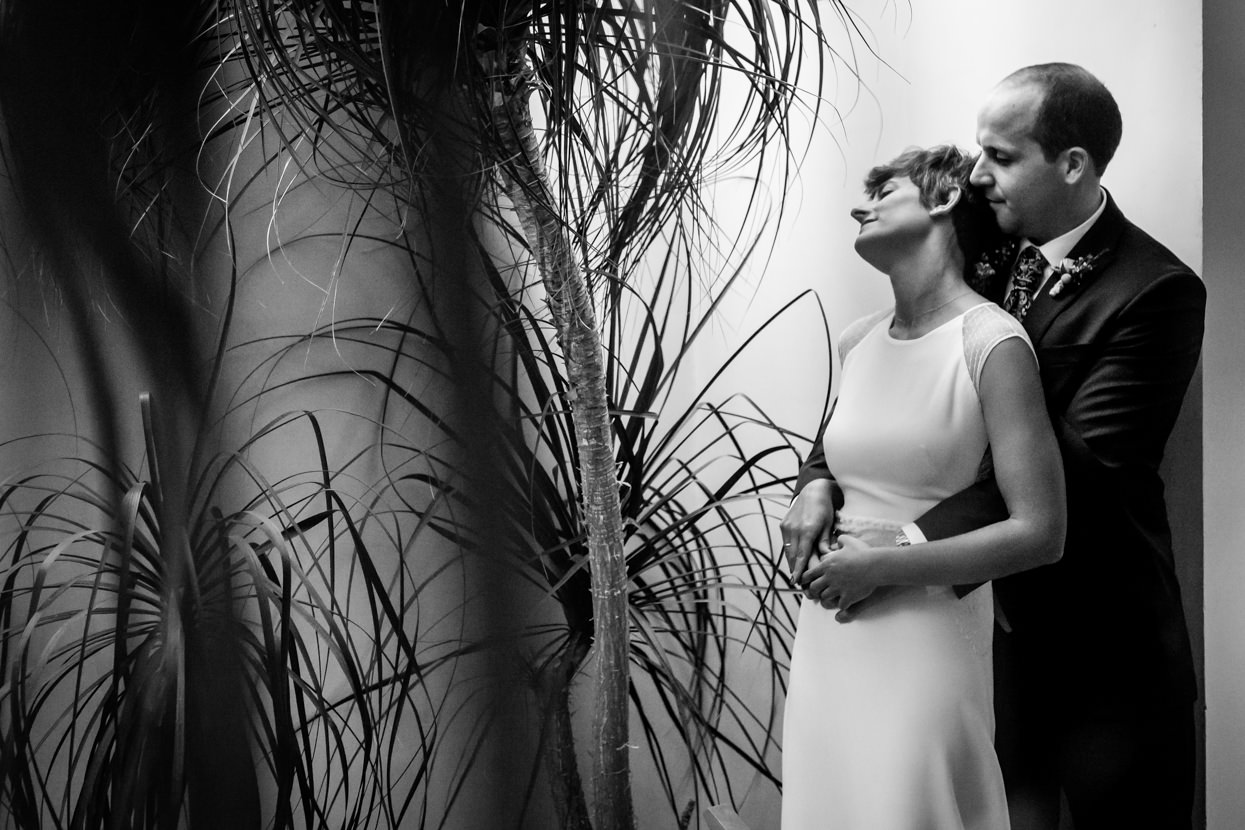 Foto de pareja en el hotel Jaizkibel