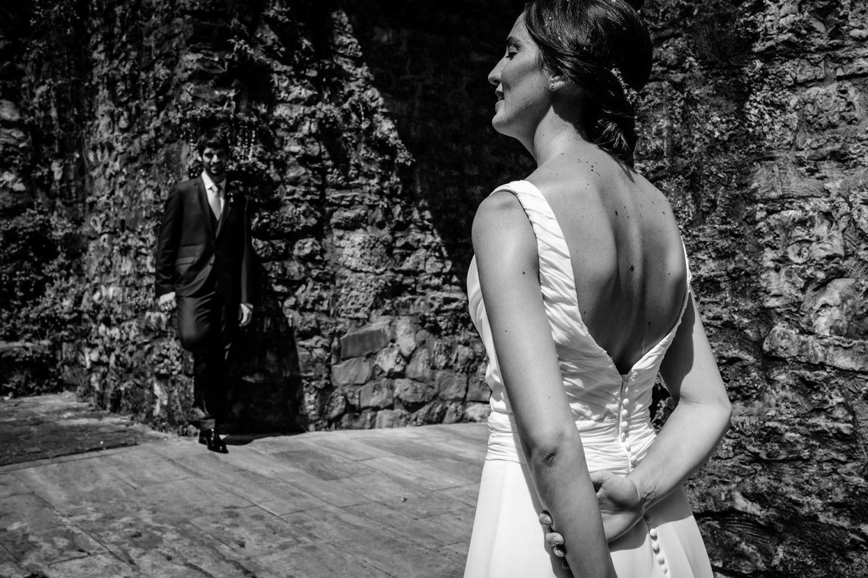 fotografía de pareja de boda en hondarribia