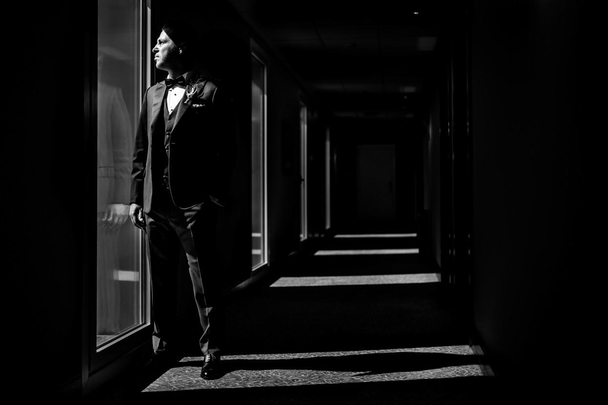 Retrato de novio en el hotel de Londres