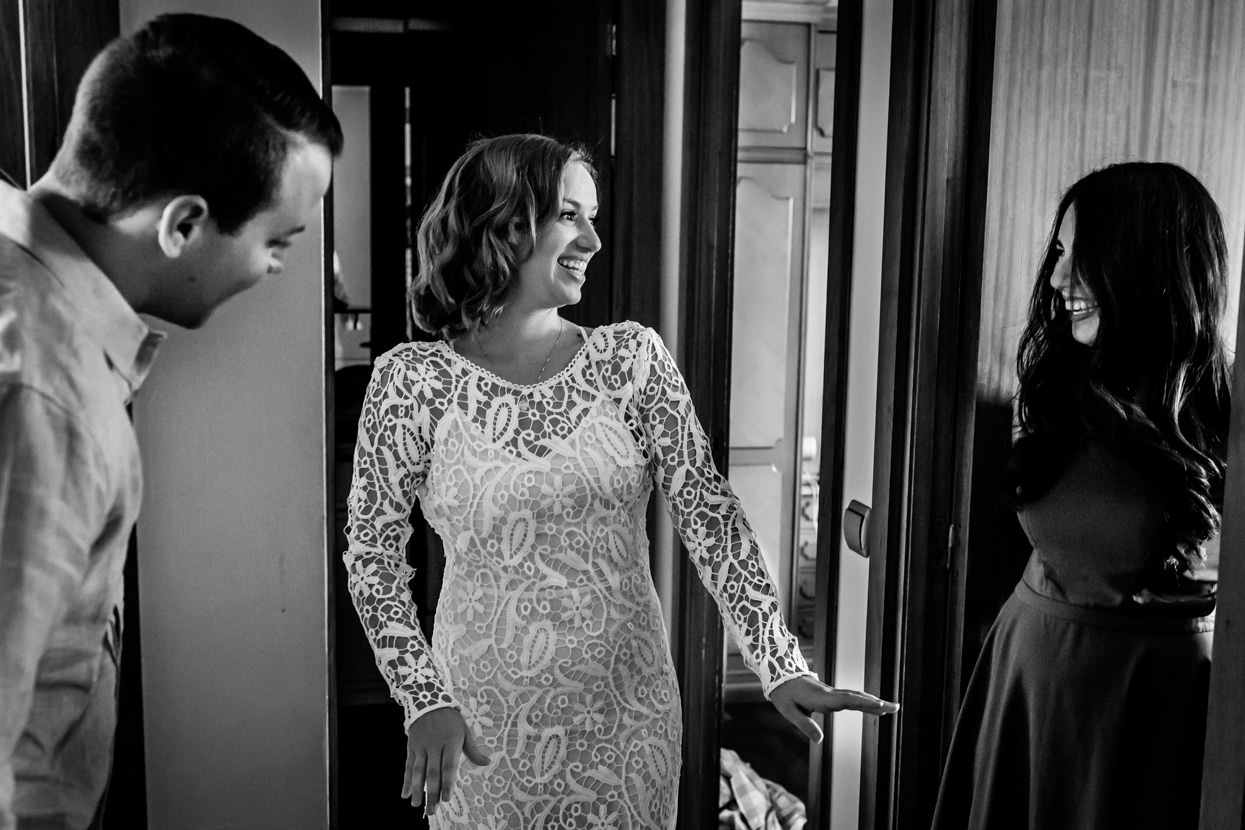 Vestido de novia en boda en Bizkaia