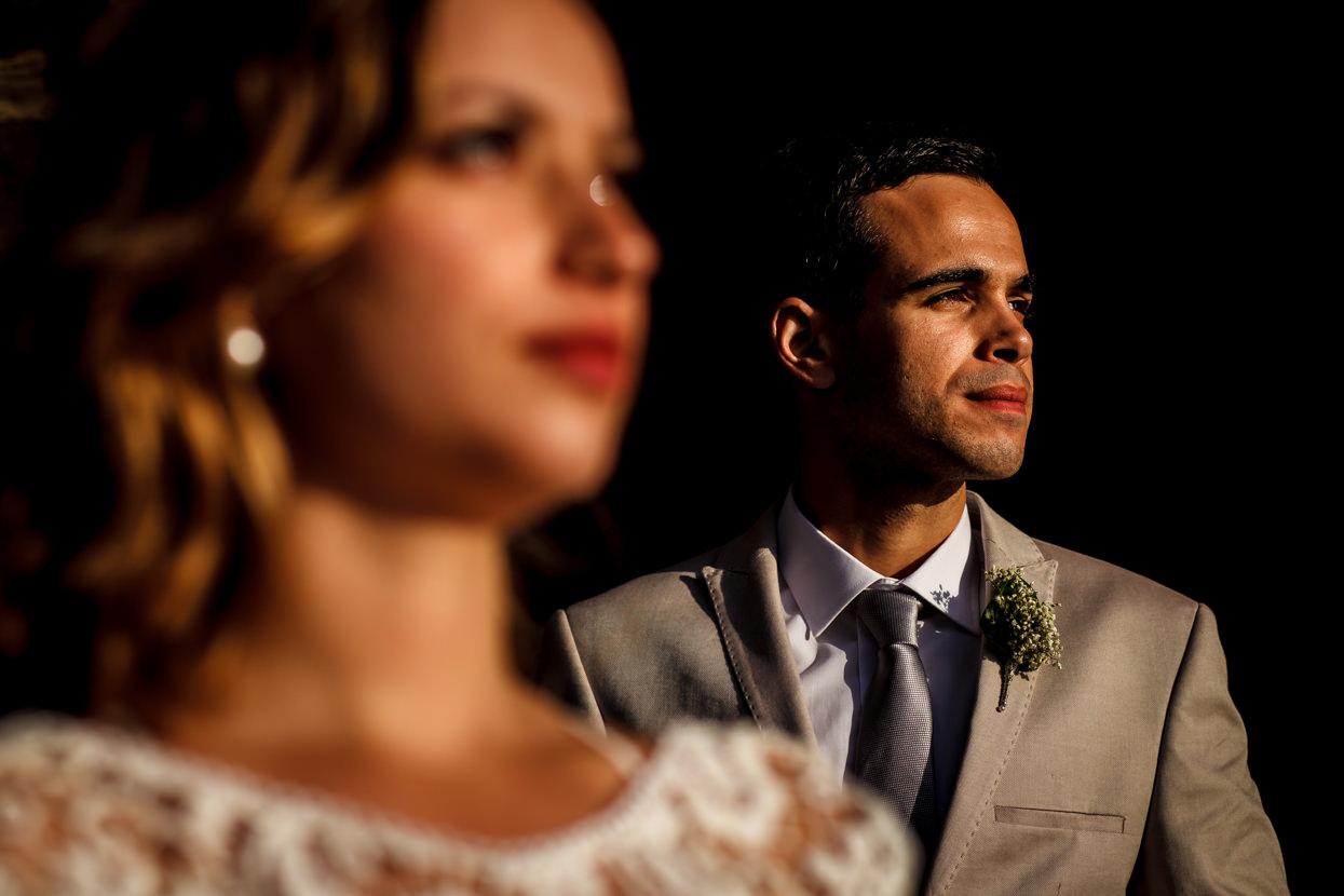 Retrato de boda de novio