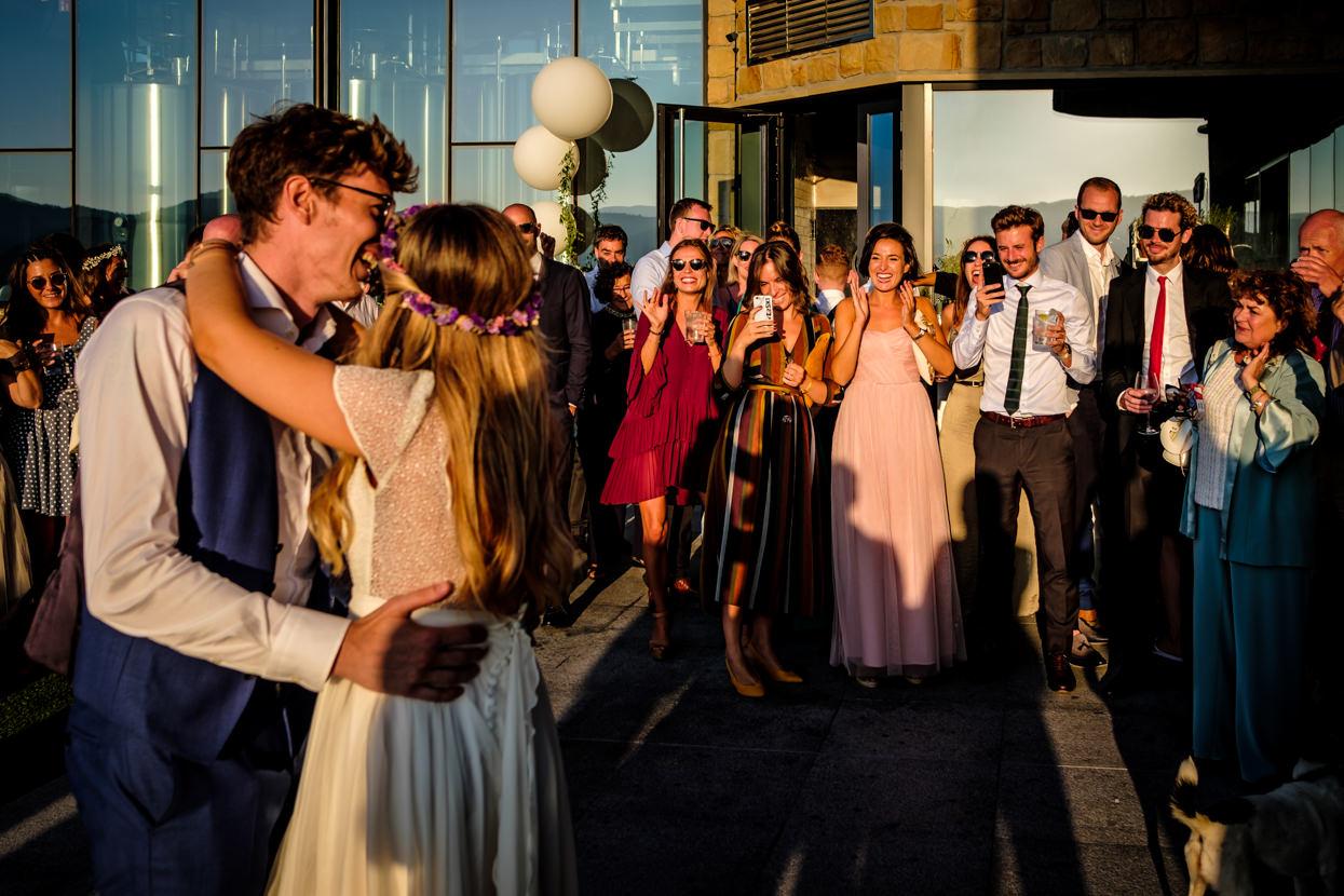 Destination wedding photographer in San Sebastian. First dance