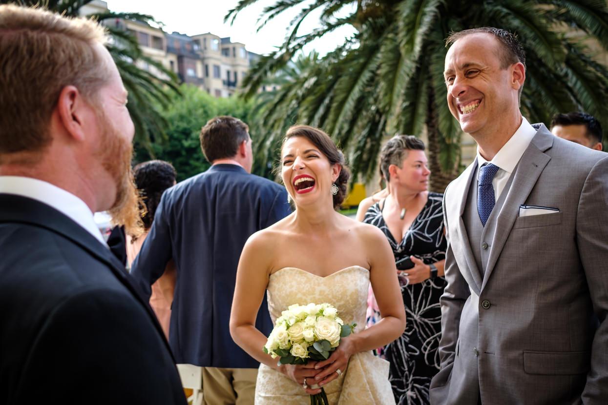Invitados de boda en hotel María Cristina de San Sebastián