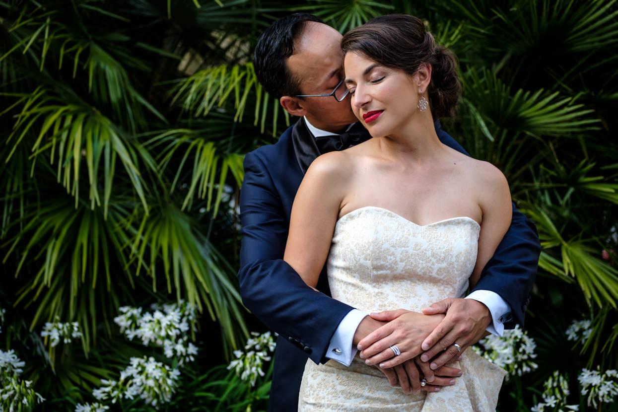 Foto de pareja de boda en San Sebastián