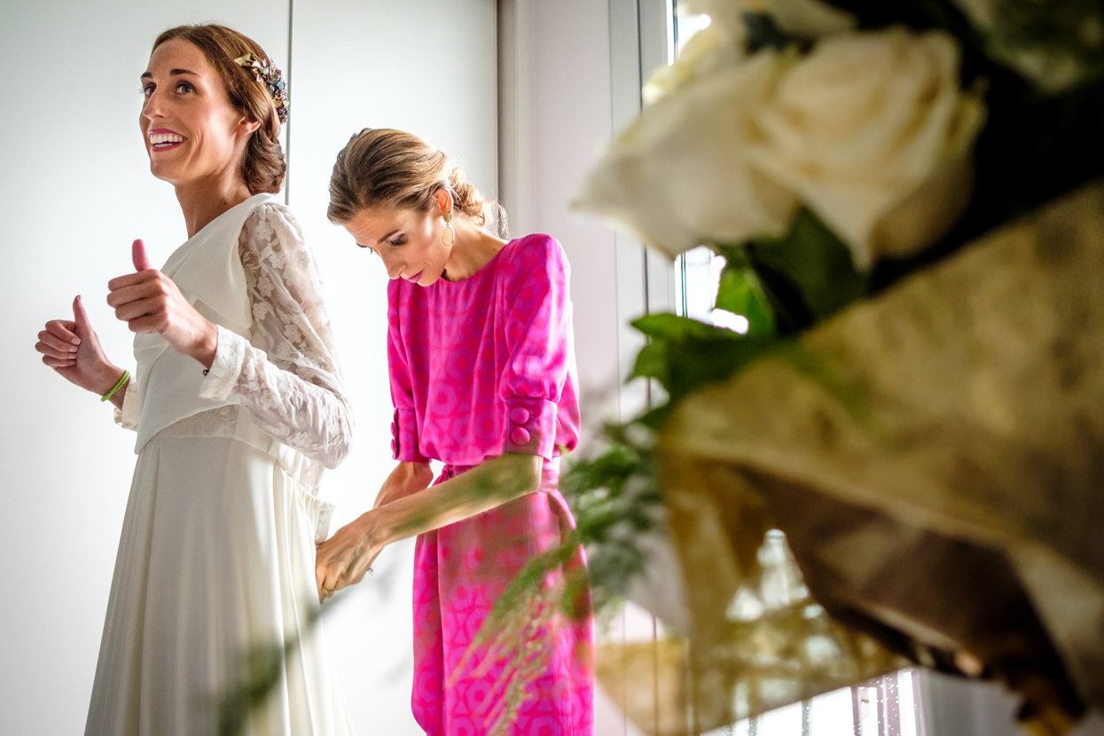 Preparativos de boda. Vestido de novia