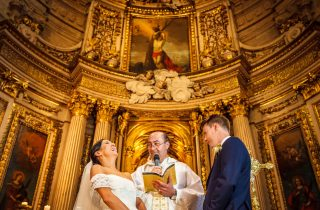 'TIL DEATH DO US PART. DESTINATION WEDDING AT SANTA MARIA CHURCH AND NINEU