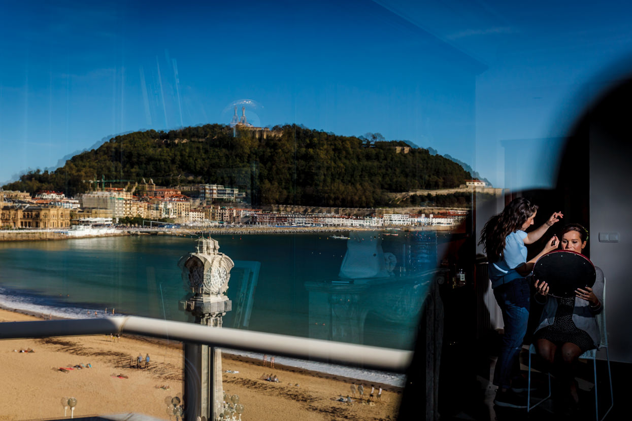 Destination wedding photographer in San Sebastian