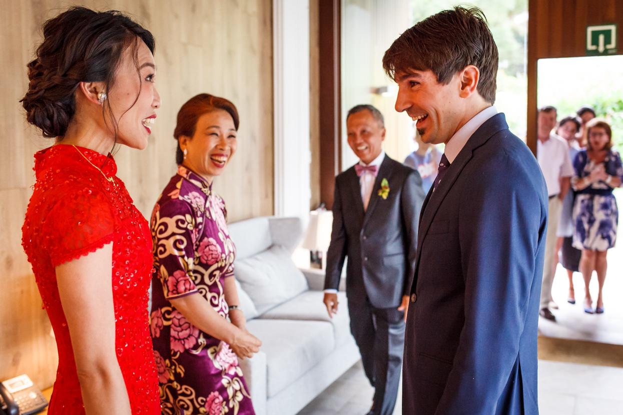 novios en ceremonia de boda en palacio yrisarri