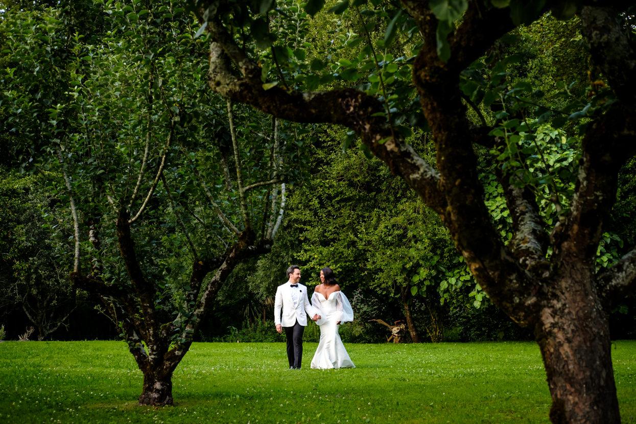 Fotografía de novios de boda en Donostia