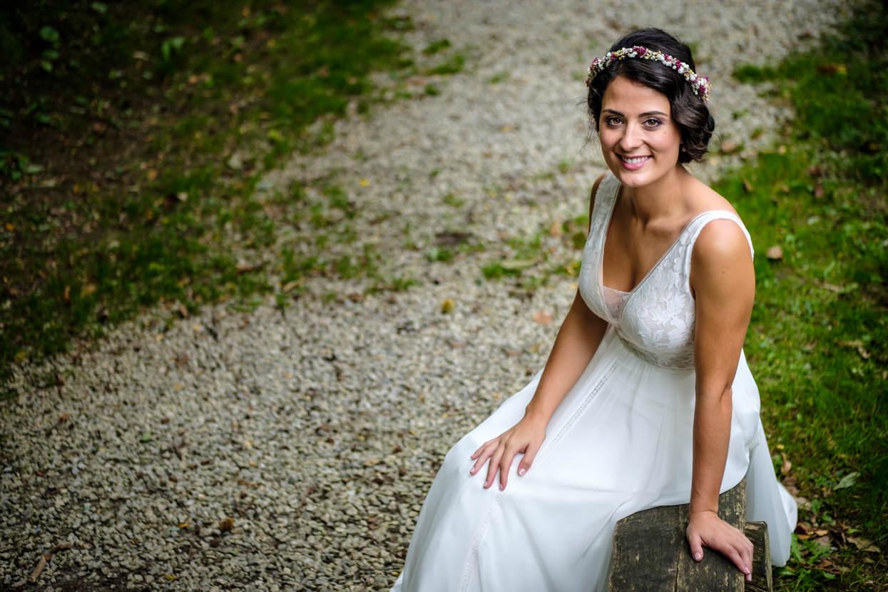 Boda en Yrisarri. Retrato de novia