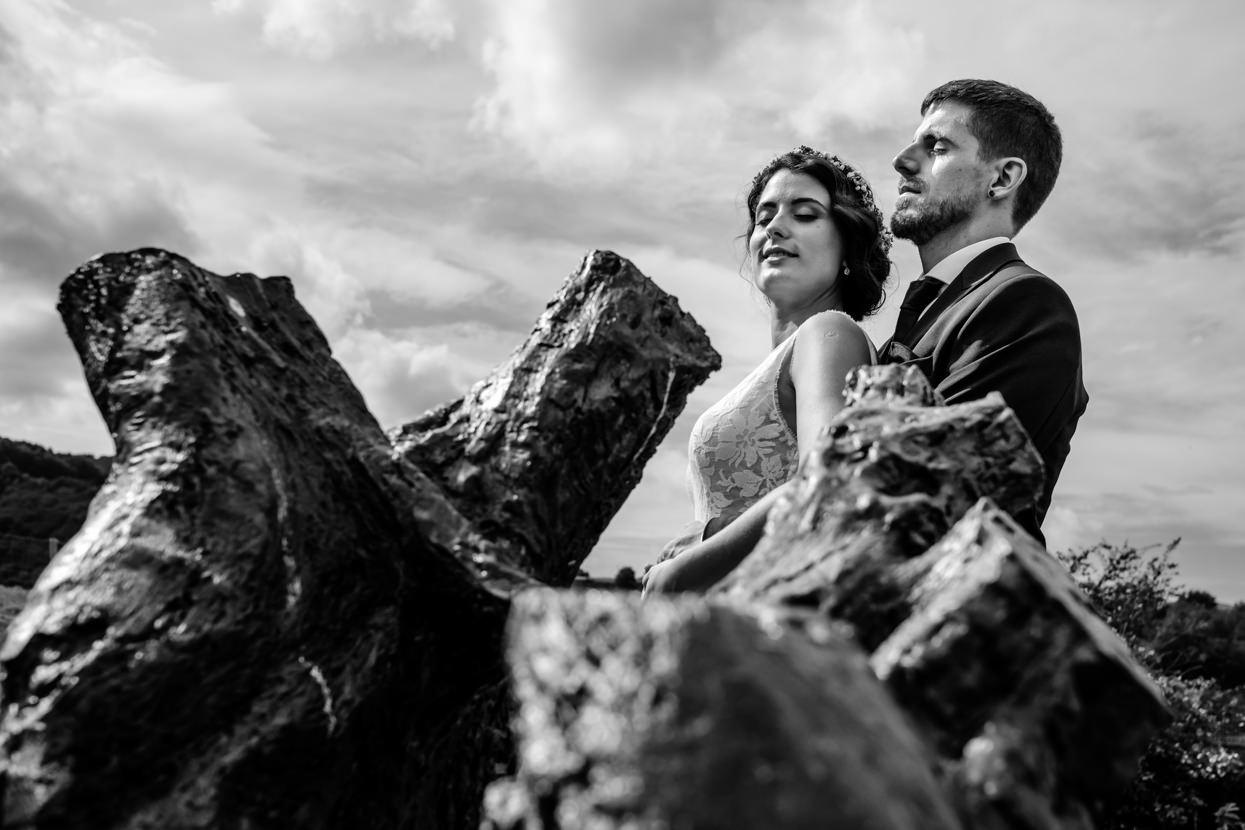 Retrato de pareja. Boda en Navarra