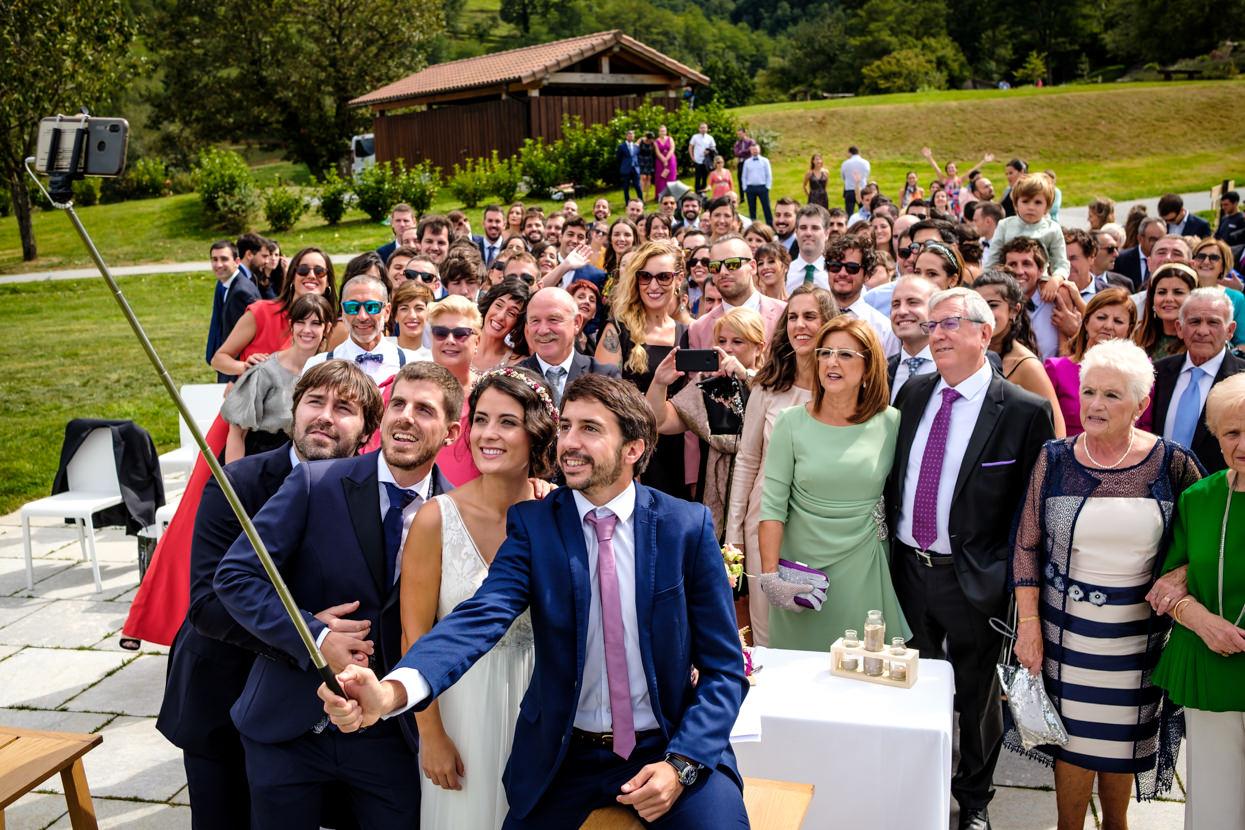 Selfie de boda en Yrisarri